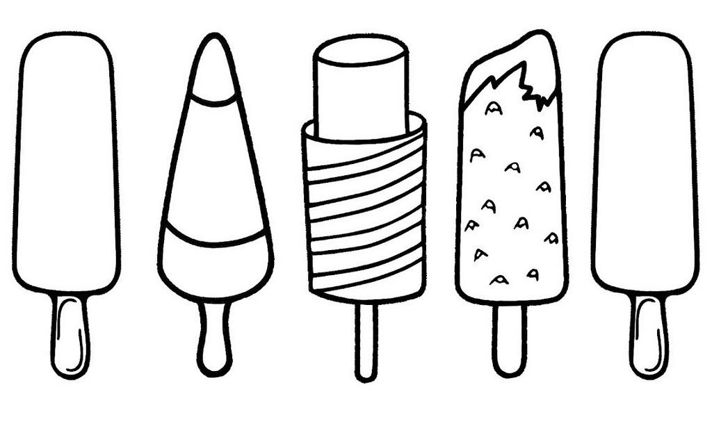 Favorite Popsicle Coloring Pages For Your Little One Ice Cream