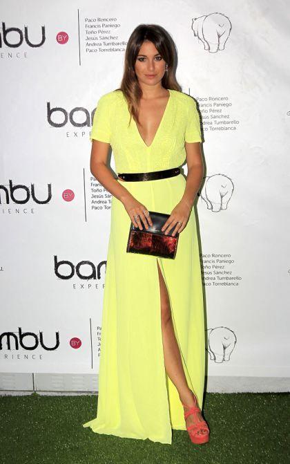El estilo de Blanca Suárez.Vestido amarillo largo. | vestidos nice ...