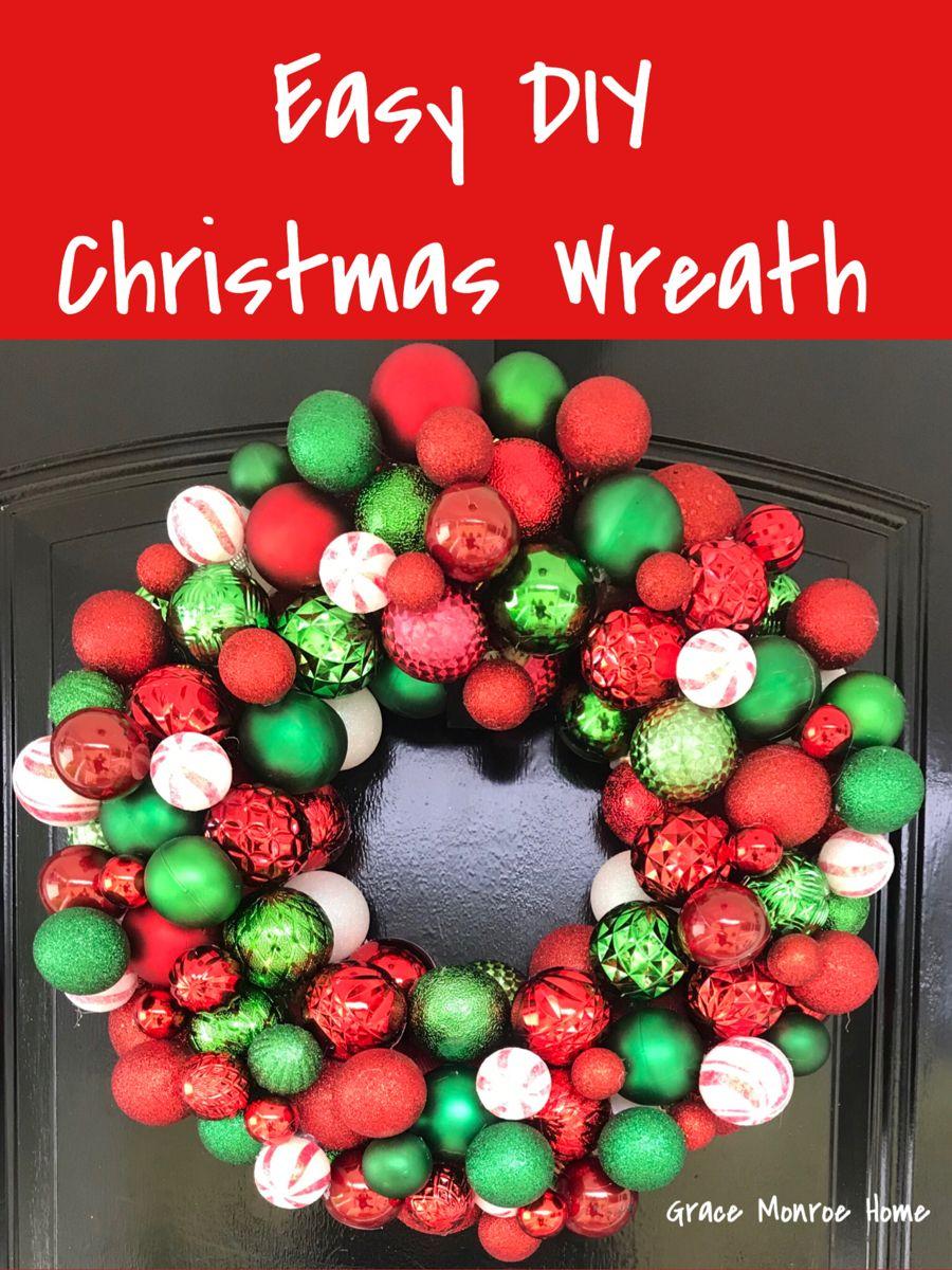 Easy DIY Christmas Ball Wreath Tutorial Step by Step