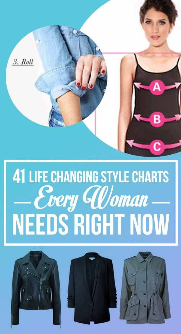 a27c4e46519657 41 Insanely Helpful Style Charts Every Woman Needs Right Now Mode Für  Kleine Frauen