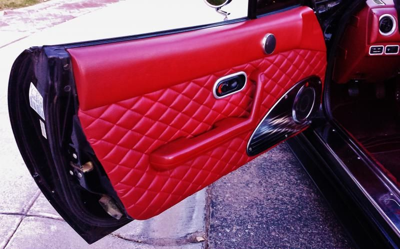 Diy Nakame Quilted Style Interior Full Tutorial For Miata Car Interior Diy Miata Miata Diy