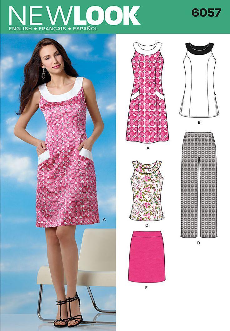 Simplicity : 6057 | модели и крой | Pinterest | Costura, Patrones y ...