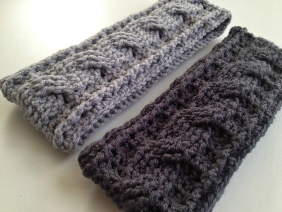 Free Pattern By With Love By Jenni Crochet Cable Ear Warmer Pattern