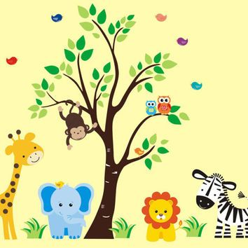 Jungle Wall Decals, Safari Wall Decals, Zoo Animal Stickers ...
