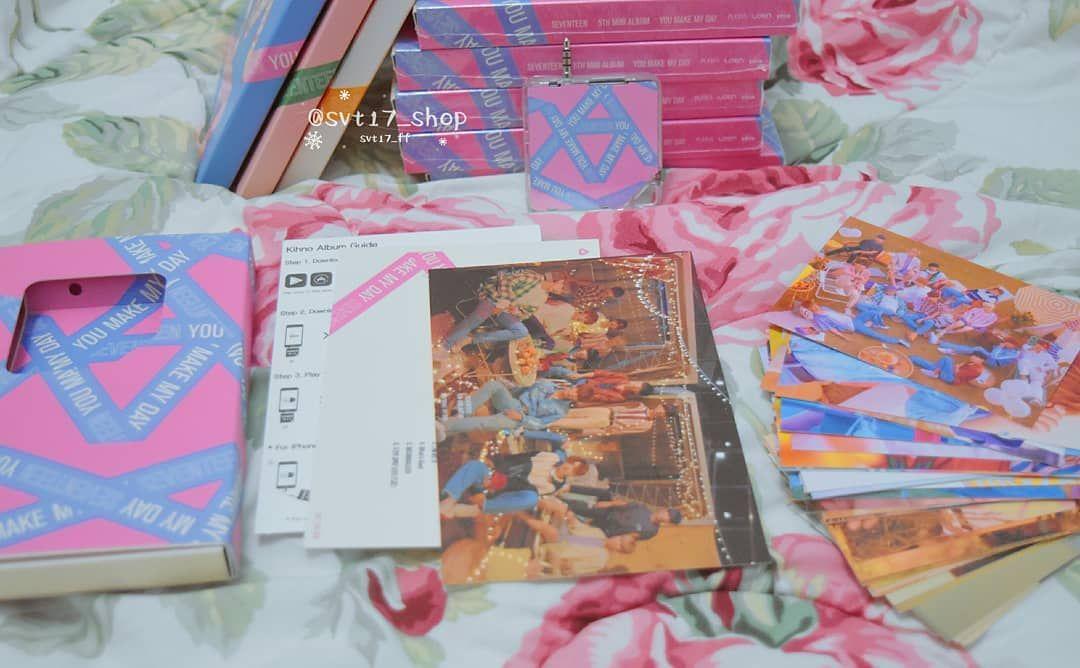 You Make My Day Kihno Album Postcard 2 Pcs Pc 40 Pcs Set The Sun Meet Follow Ver Sumpah Gak Nyesel Beli Yg Ki Seventeen Merch Album Seventeen Kpop Merch
