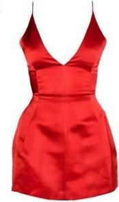 9980c900ab4 Dior Satin Deep V-Neck Dress as seen on Irina Shayk