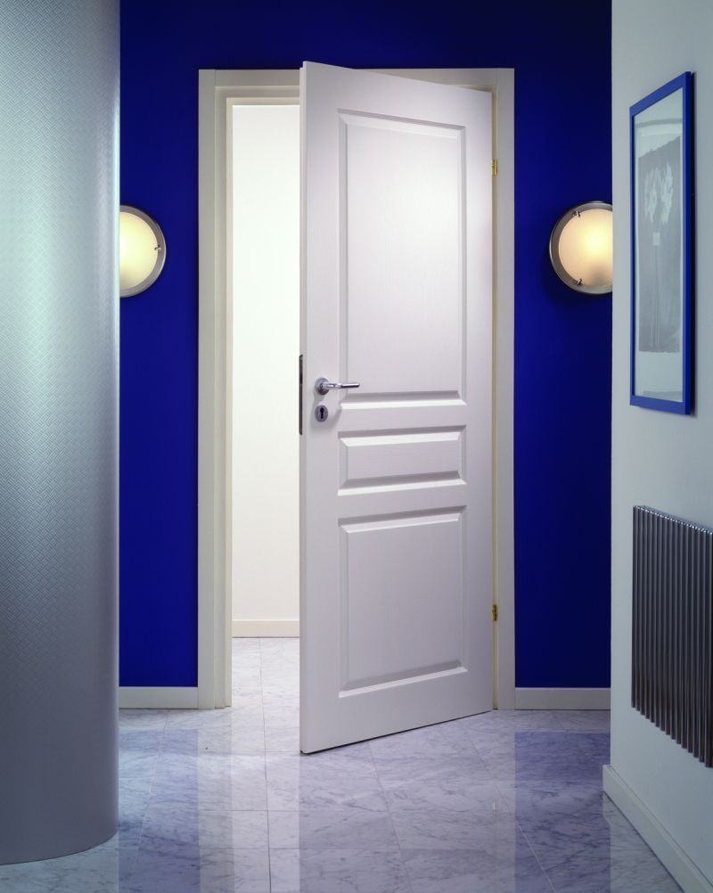 Modern White Wood Panel Masonite Interior Entry Doors Design