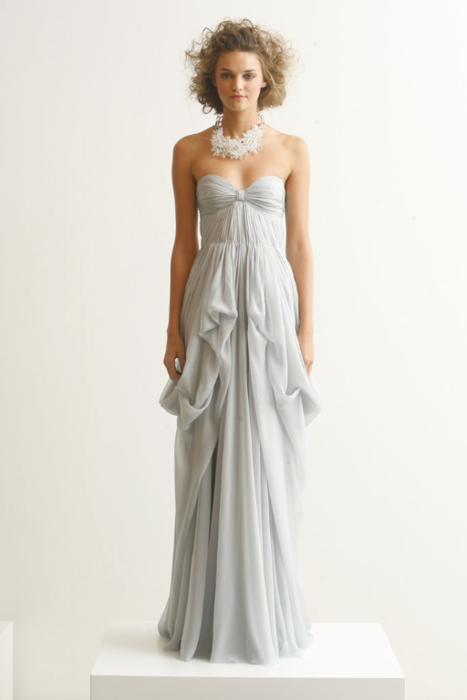 Pretty in blue. Who says you need to marry in white?
