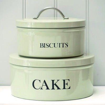 Biscuit U0026 Cake Storage Tins In Cool Clay Colour. Stackable With An Airtight  Seal.