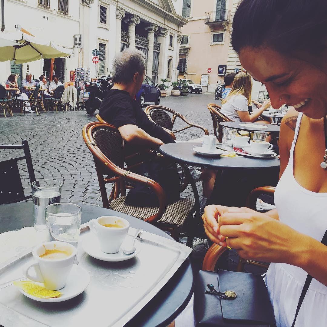 Favorite cafe favorite woman. #santeustachio #roma #espresso by spqr_ix