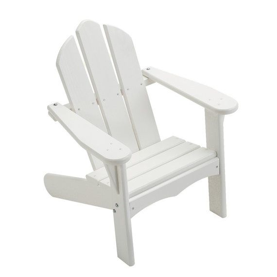 Painted Adirondack Chair for Kids in White Other by EndeavourToys