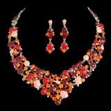 Bridal Jewelry Set Indian Style Earring and Necklace