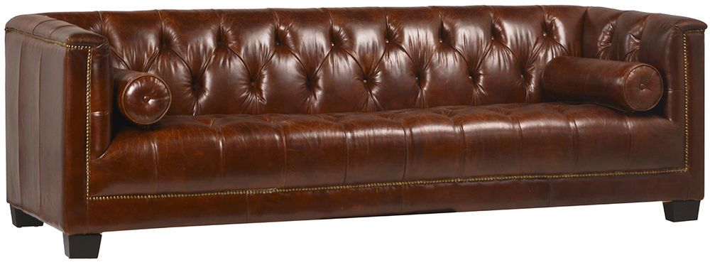 91 Chesterfield Top Grain Vintage Cigar Italian Leather Sofa Wood Legs Unbranded Transitional Italian Leather Sofa Contemporary Couches Wood Sofa