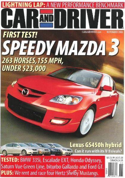Car And Driver Sdy Mazda 3 November 2006 Magazine 00
