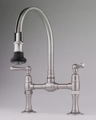 Steam Valve Original Bridge Faucet With Pull Off Spray Kitchen
