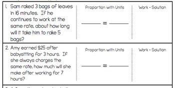 Proportions Word Problem Worksheet - FREEBIE   7th grade math   Word ...