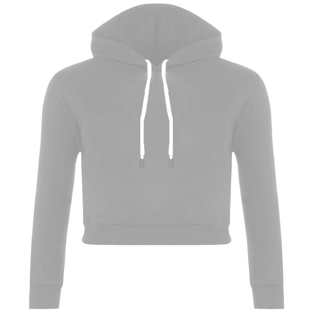Sexy Navel Hooded Long Sleeves Solid Color Crop Hoodie | Navel ...