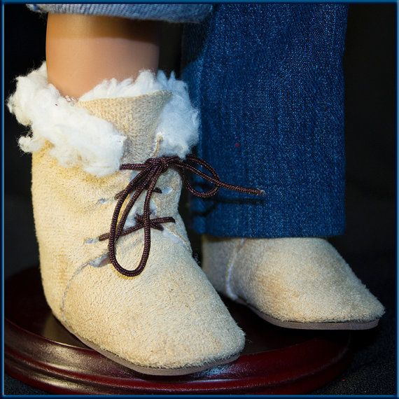 Ugg Style Doll Boots, High Top, Lace Up, Doll Accessories that fit your
