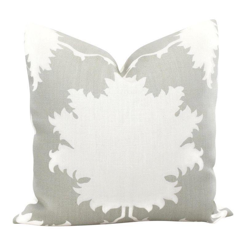 Pottery Barn Pillow Covers 20x20: Garden Of Persia Dove Gray Decorative Pillow Cover, 20x20