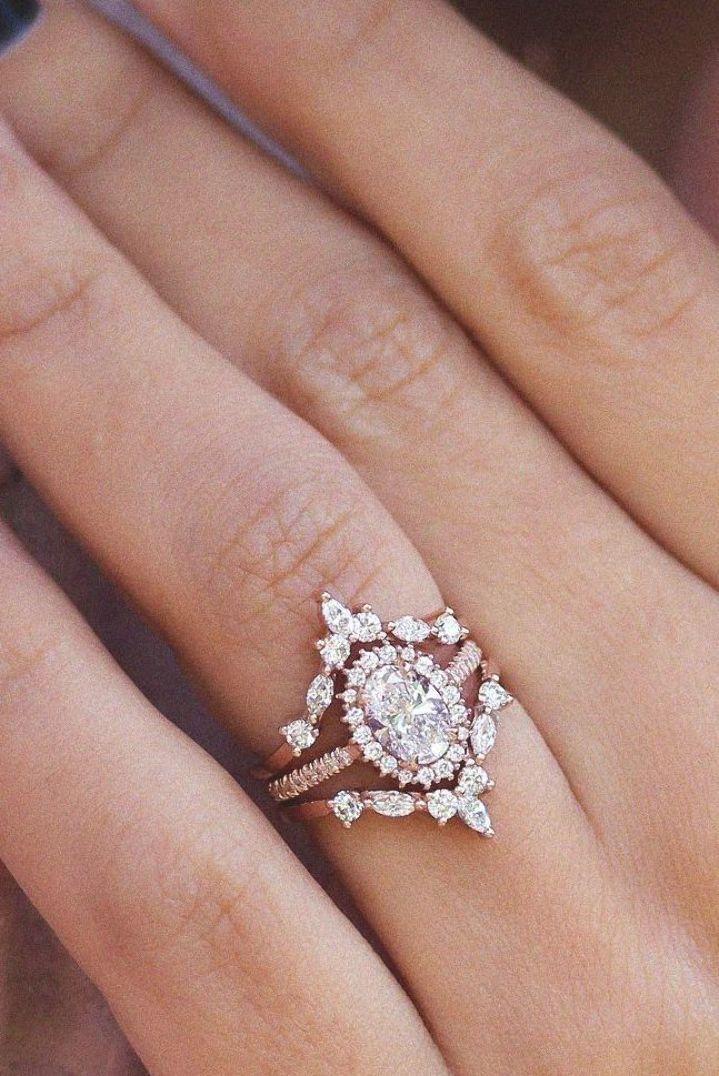 {OVAL DIAMOND HALO UNIQUE ENGAGEMENT WEDDING THREE BRIDAL RINGS - SET -NIA TWO HERMES- 1.70CT . HANDMADE BY SILLY SHINY DIAMONDS|OVAL DIAMOND HALO UNIQUE ENGAGEMENT #weddingringselegant #weddingring #bestweddingringsbeautiful #bestweddingringsawesome #weddingringsamazon