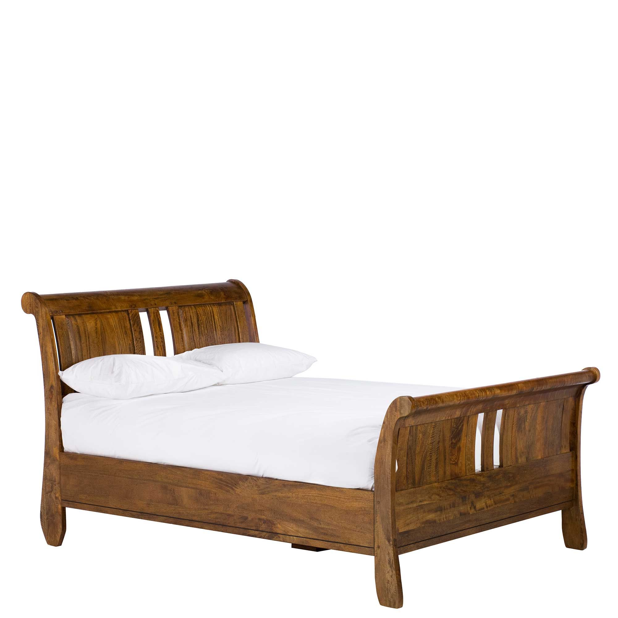 This High End Sleigh bed is made from mango wood - The bed is ...