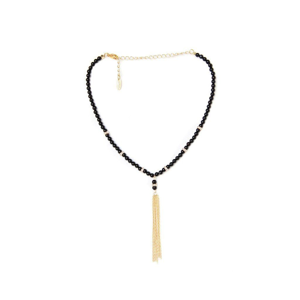 One of the Classics Choker in Onyx and Gold