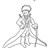 desenho de pequeno príncipe e sua roupa para colorir pequeno