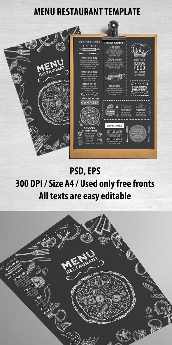 creative and modern food menu template for your restaurant business