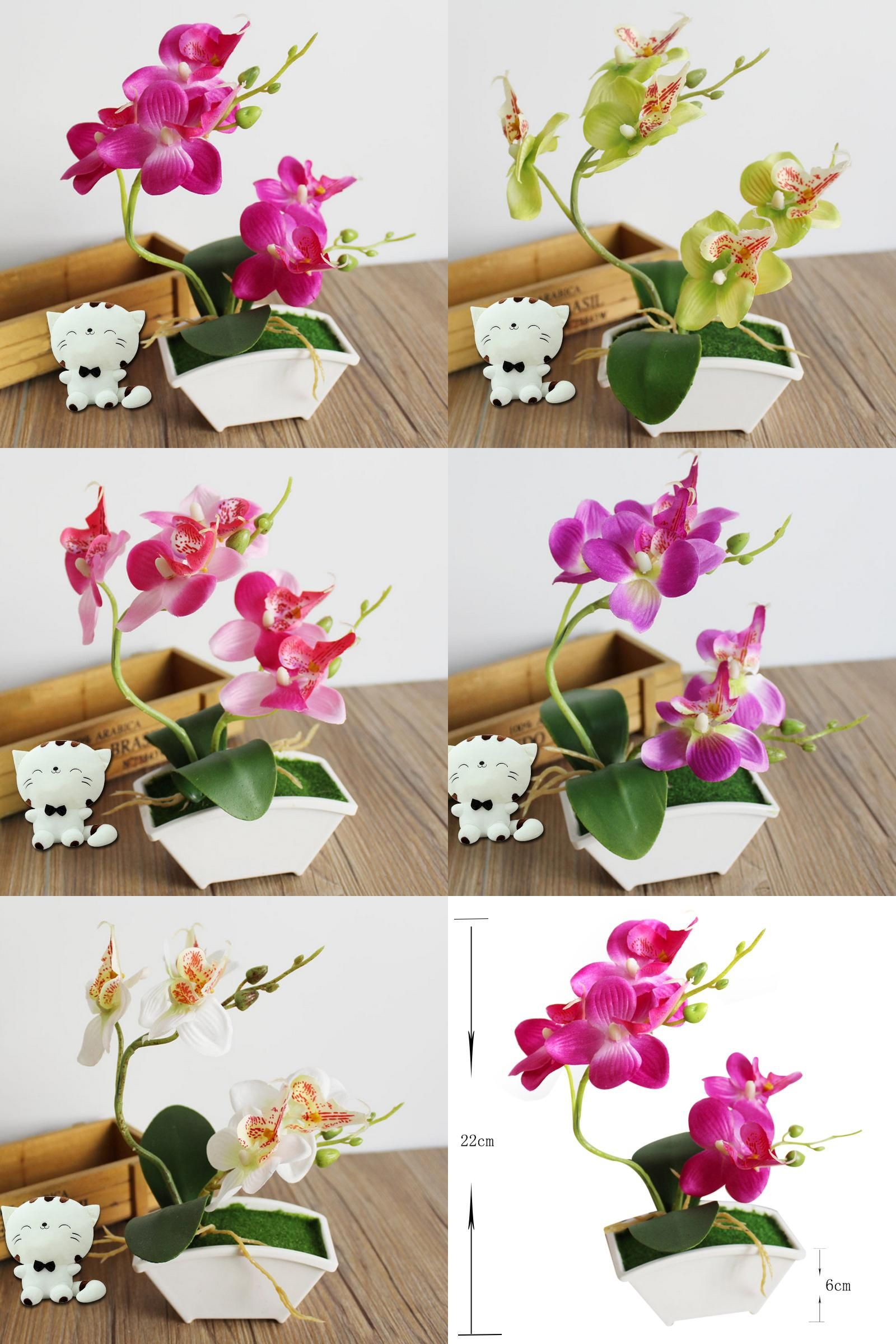 Visit To Buy Orchid Artificial Flower Butterfly Orchid Fake Flowers