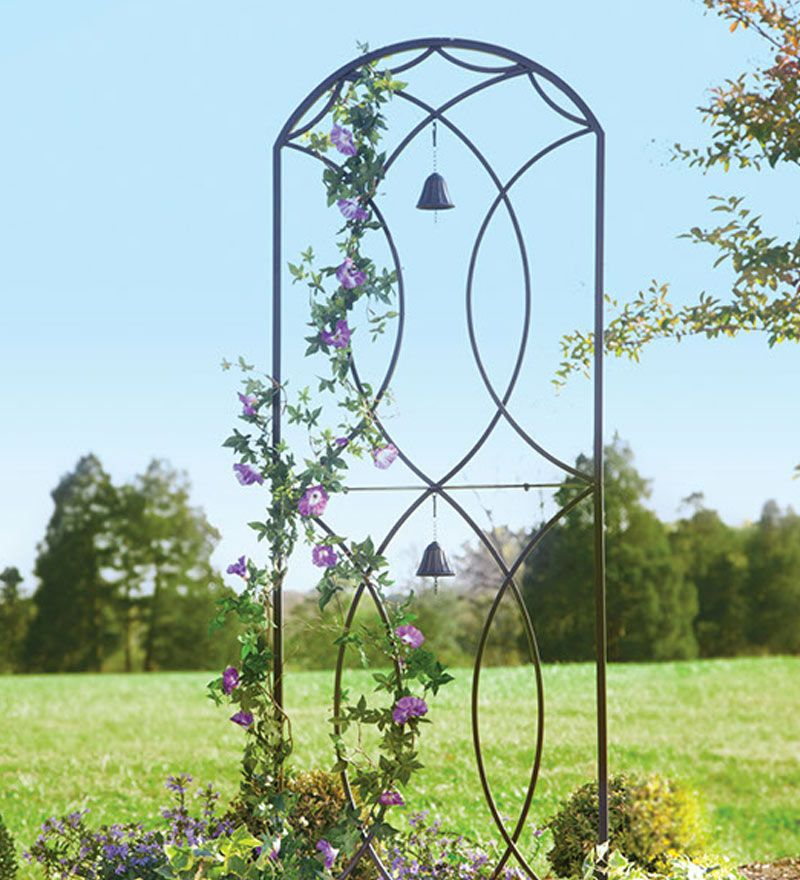 Metal Garden Trellis With Two Bells | Gardening & Landscaping ...