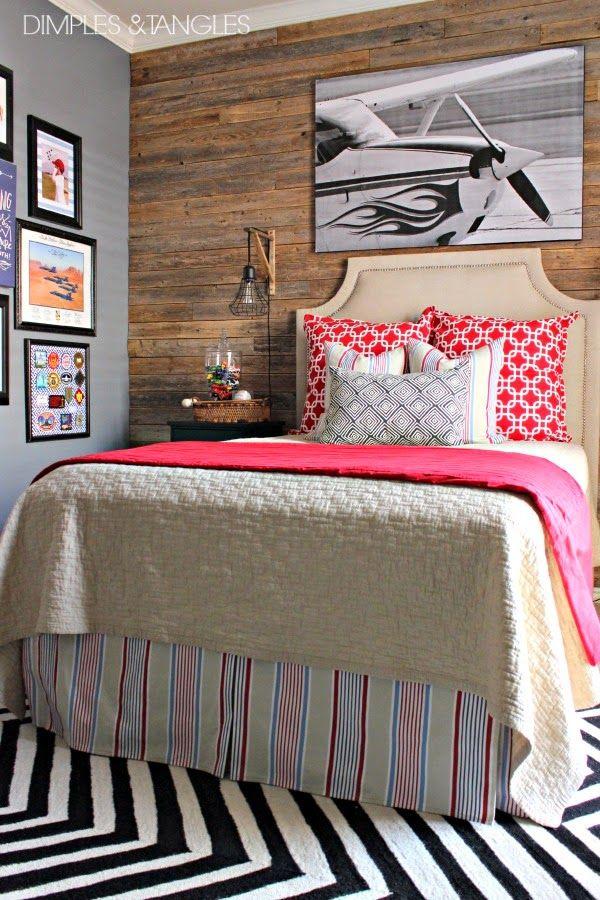 Holz Rückwand im Schlafzimmer❤ Schlafzimmer Pinterest