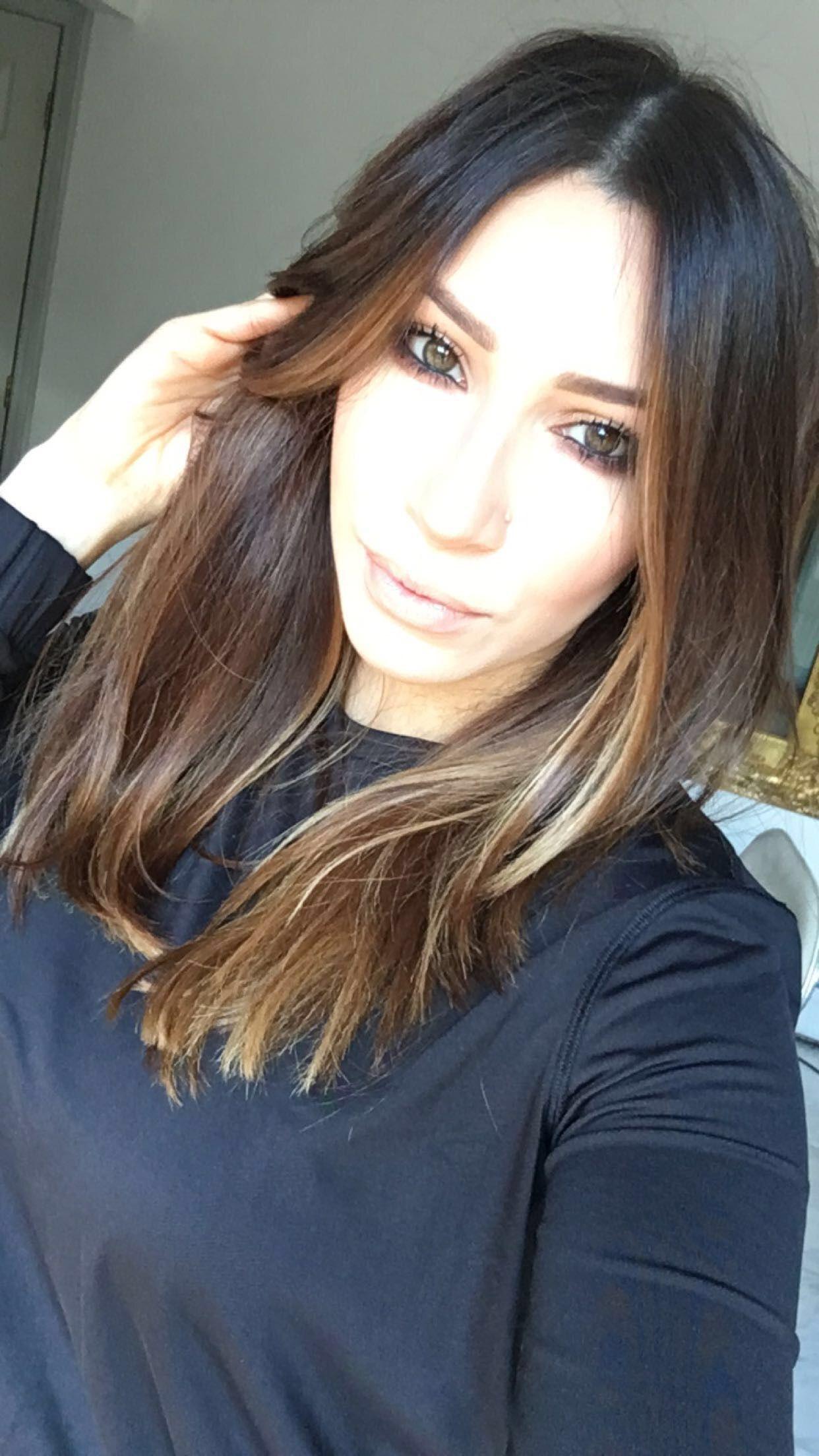 Haircut Styles For Long Thin Hair: Caramel Balayage Blunt Cut Ritahazan