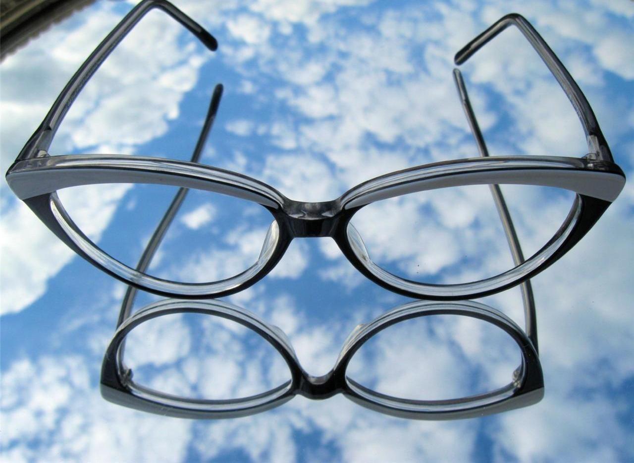 Jean lafont eyeglasses frames - Vintage Lafont Cat Eye Glasses Frames Black White Plastic Paris France Nos