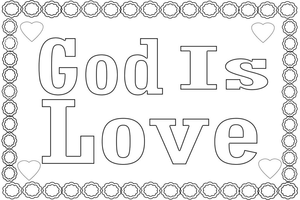 God Is Love Coloring Pages Bible Coloring Pages