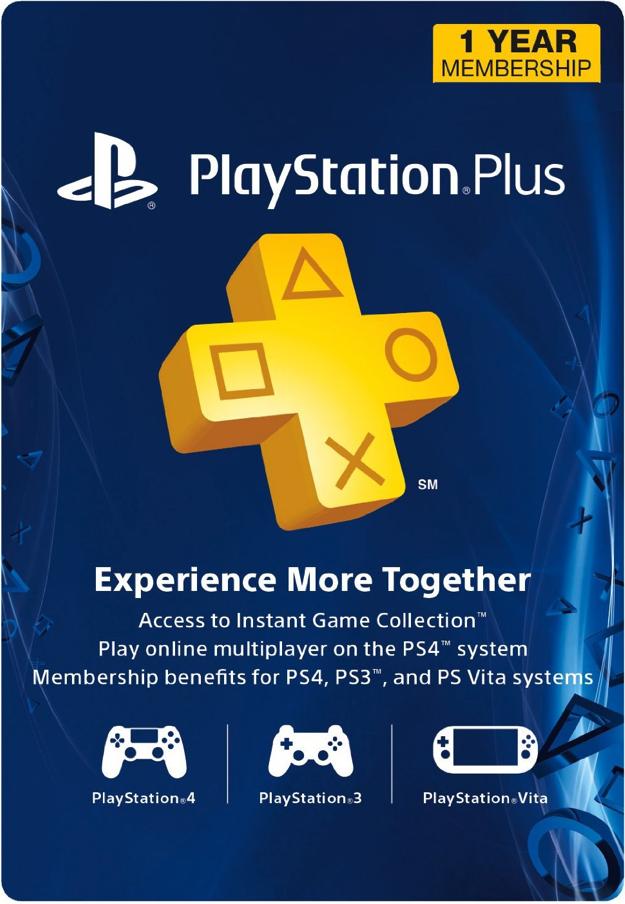 1Year PlayStation Plus Membership PS3/PS4/PS Vita