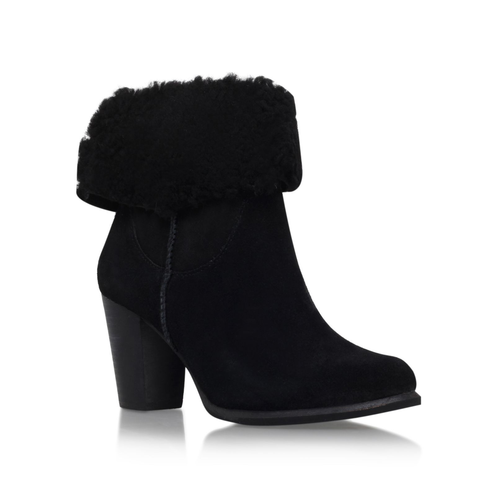 UGG Australia Charlee high heel fur cuff ankle boots, Ankle BootsHigh and  above)LeatherUpper – Leather, Lining – Leather, Sole – SyntheticCasualAnkle  high ...