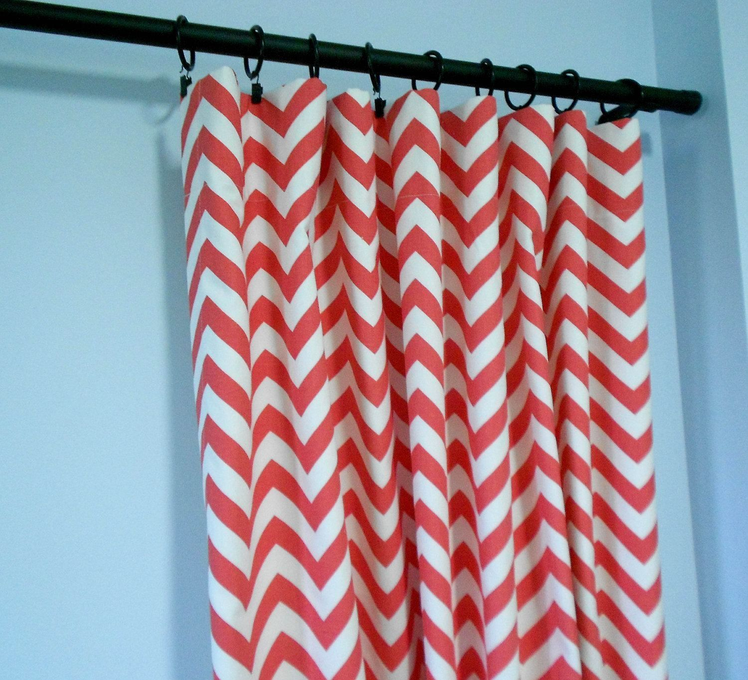 White and coral curtains - 10 Best Images About Coral Chevron Curtains Are Modern And Trendy On Pinterest Nice Pink And Lights