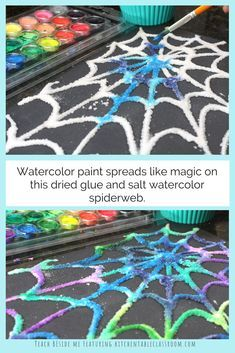 Photo of Glue and Salt Spiderweb Craft