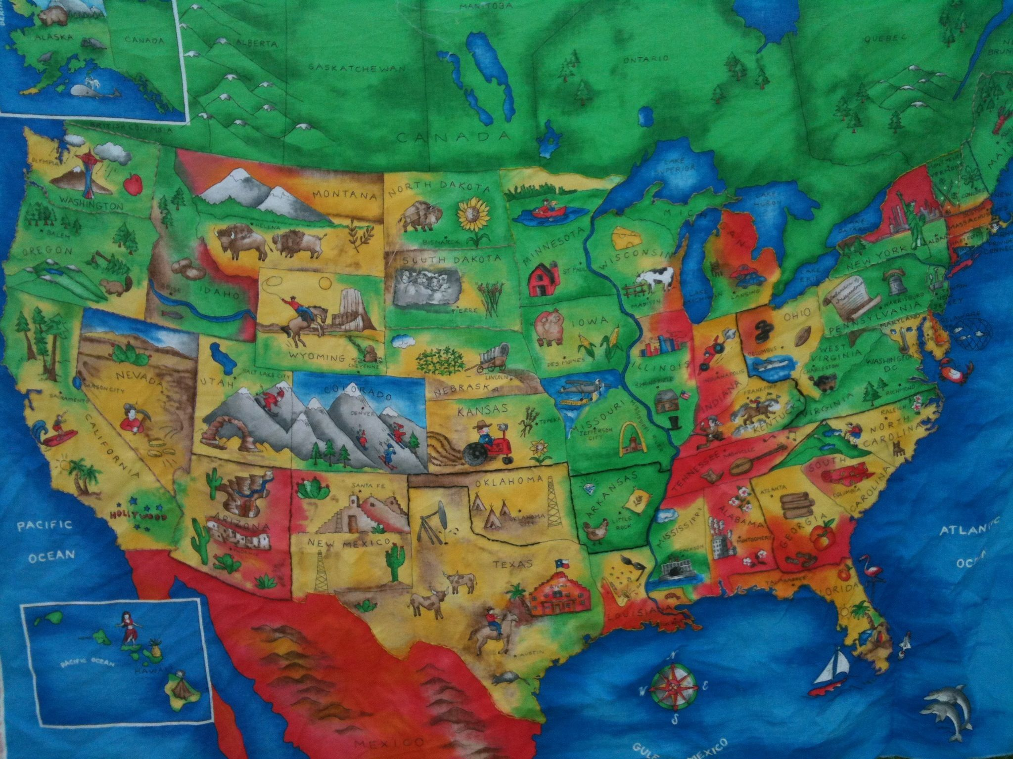 Great US Geography Waldorf Block Ideas Waldorf Fourth Grade - Map of us geography