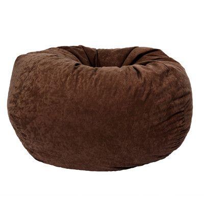 Elegant Comfort Research Classic Bean Bag In Comfort Suede | Wayfair