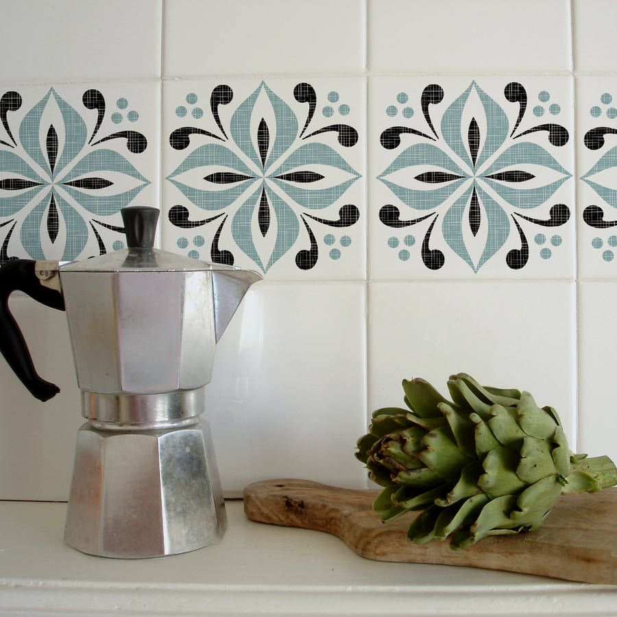 Easy to apply tile tattoos for kitchen and bathroom tiles. In just a ...