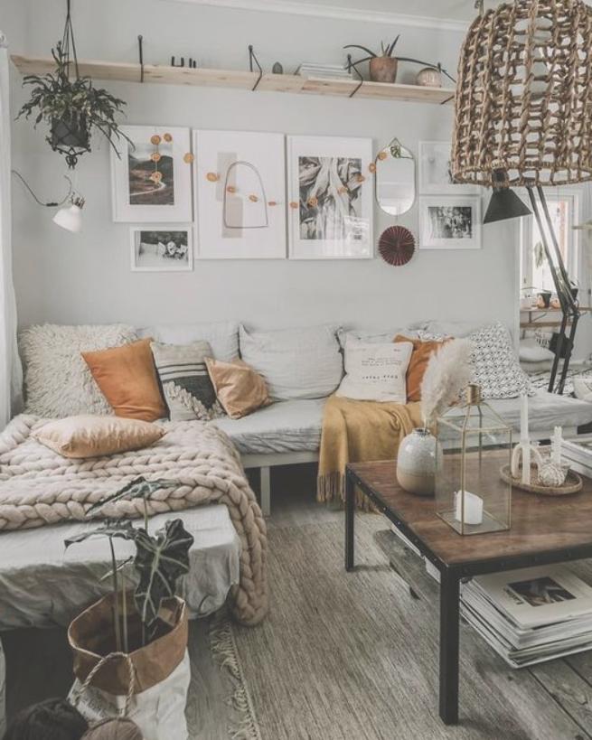 Scandinavian Interior Design Home Interior Design Decor Nordic Design Nordic Bedroom Nordic Livin Rustic Living Room Living Room Scandinavian Apartment Decor
