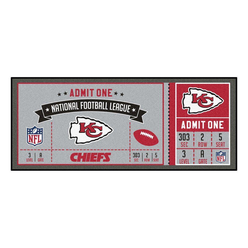 Hot NFL Kansas City Chiefs Ticket Runner 30x72 | Kansas City Chiefs  for sale