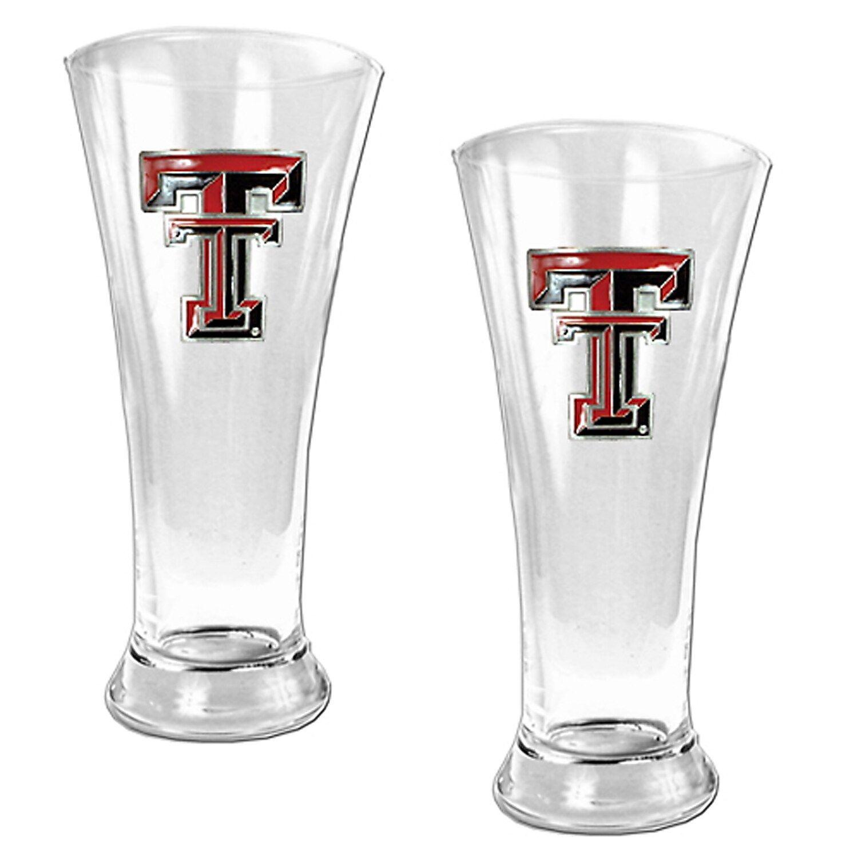 NCAA Pilsner Glass Premium Glassware Set of 2 BPA-Free  16oz Lead-Free