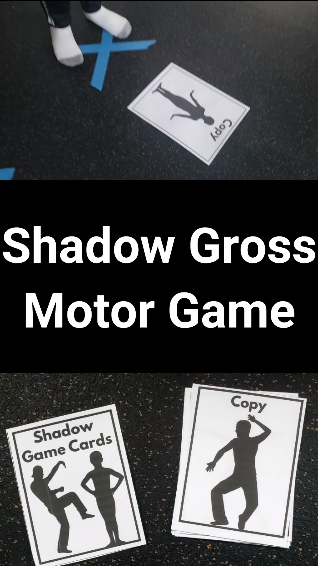 A fun gross motor activity for kids!  This game is great any time of the year as it works on gross motor and visual motor skills, but I really like it for Groundhog's Day!