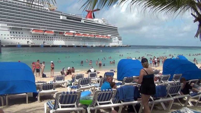 The Ships Seem to Dock Right Near the Beach at Grand Turk