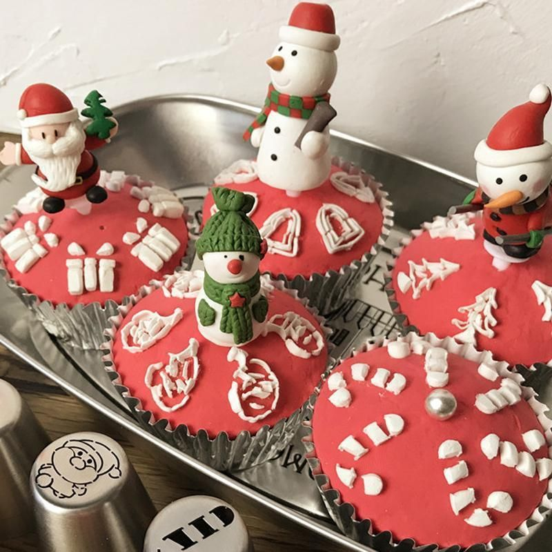 Russian Icing Piping Tips Christmas Design Nozzles #inspireuplift explore Pinterest