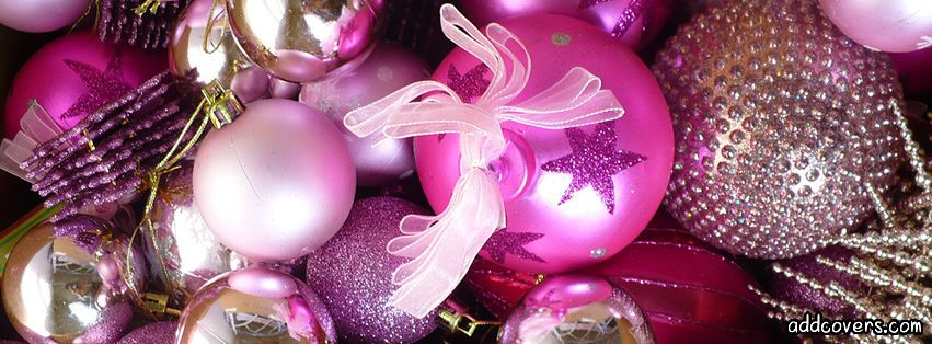 Christmas Facebook Cover Photos Pink Christmas Ornaments Facebook