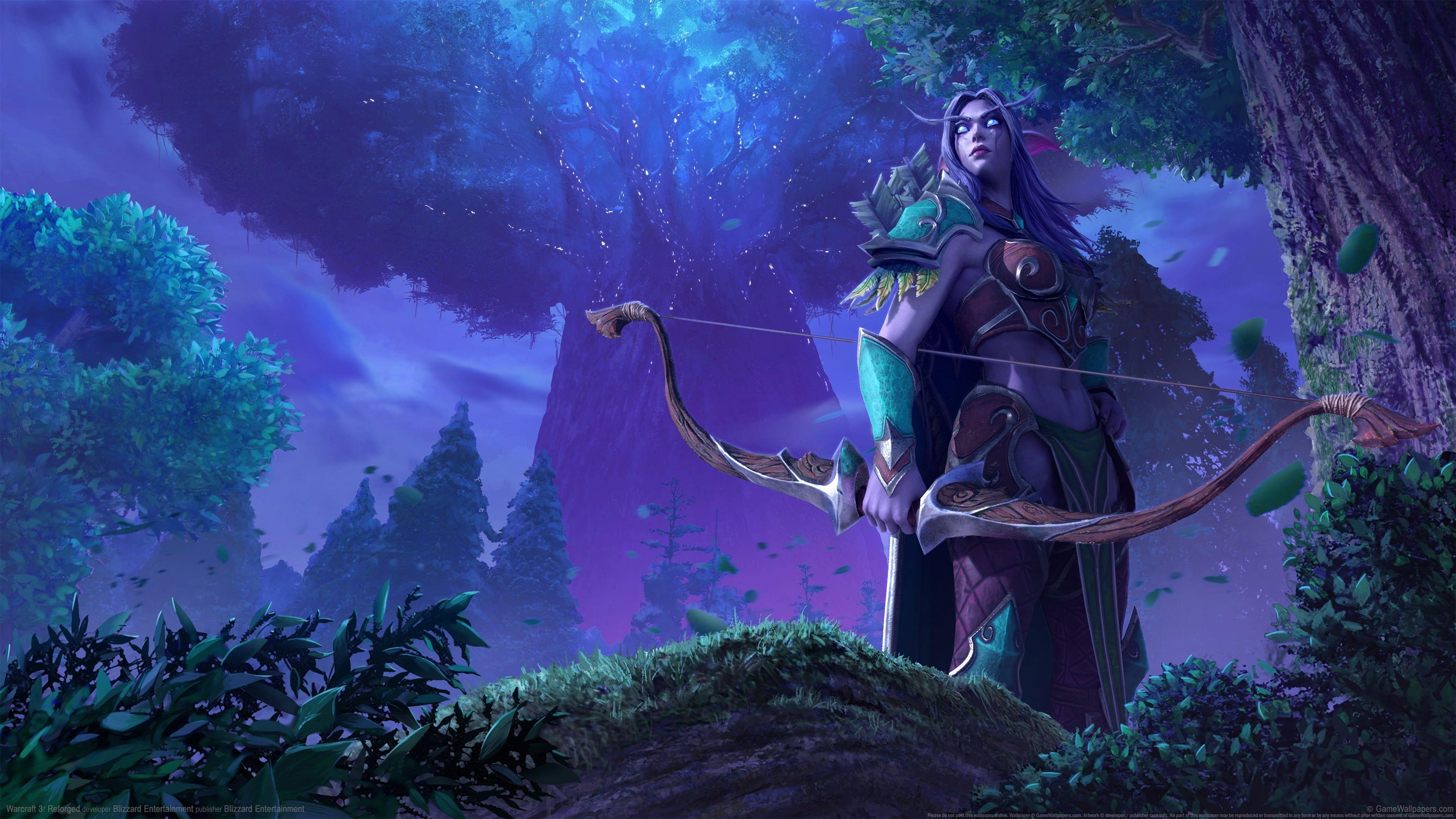 Warcraft Iii Warcraft Iii Reforged Video Games Video Game Art Digital Art Elves Night Elves Sylvanas Windru In 2020 World Of Warcraft Wallpaper Warcraft Iii Warcraft