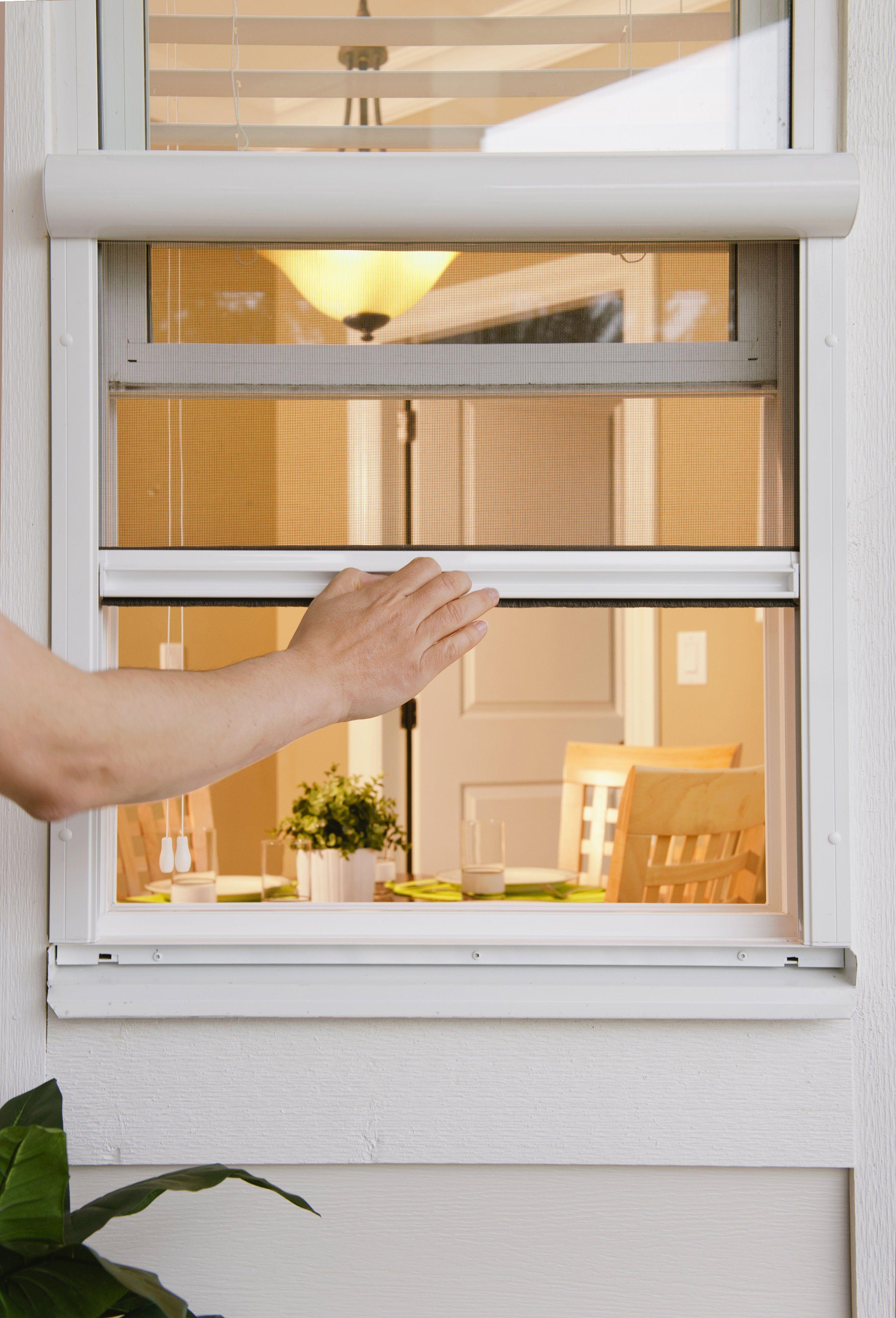Non Obstructing Window Screens In 2020 Retractable Window Screens Window Screens Phantom Screens